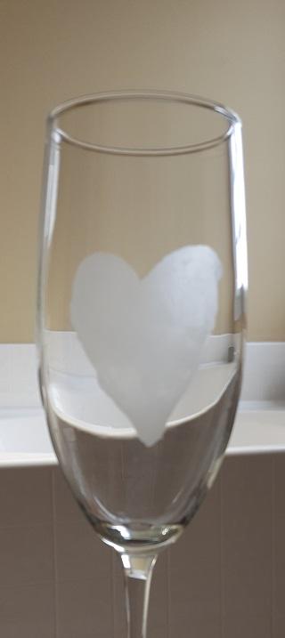 Heart champagne flute