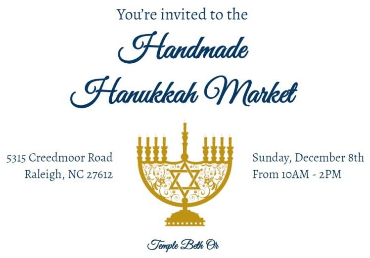 2019 Handmade Hanukkah Market flyer