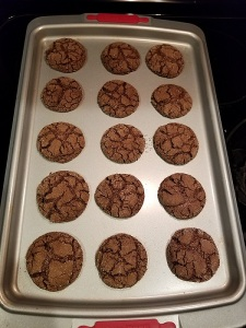 Pan of 15 chocolate sugar fudge cookies
